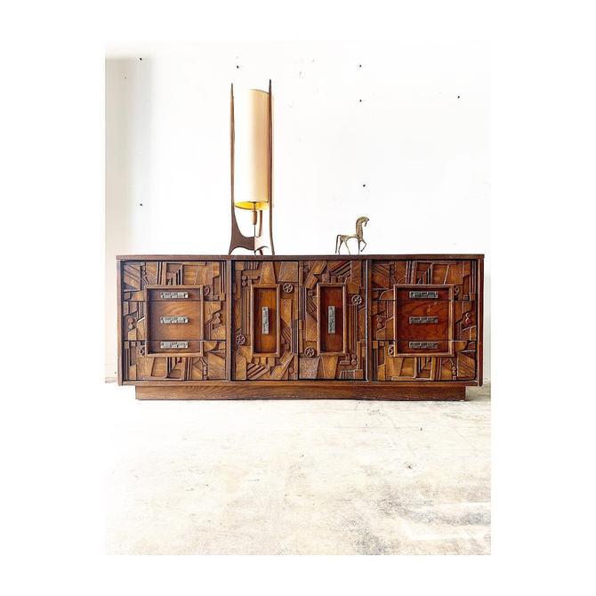 Mid Century Brutalist Credenza or Dresser by Lane Pueblo Collection by FlipAtik