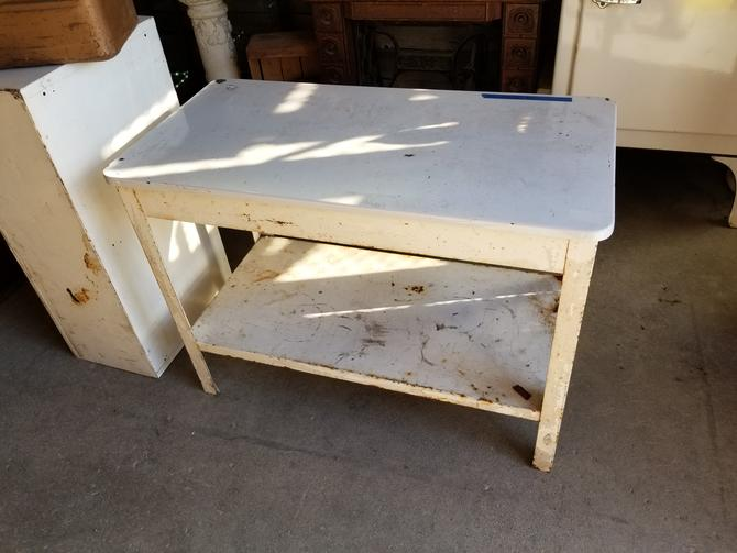 "Metal Work Bench with Shelf Underneath 40"" W by 29"" H by 20"" D"