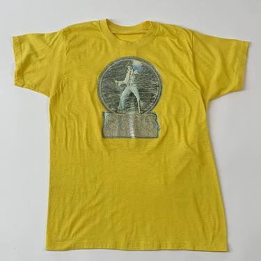 Yellow Elvis Iron-On Tee