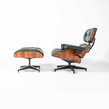 Customed Order- 3rd Gen Eames Lounge Chair and Ottoman in British Racing Green Leather by SocialObjects