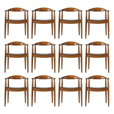 Set of 12 Hans Wegner JH-503 Chairs