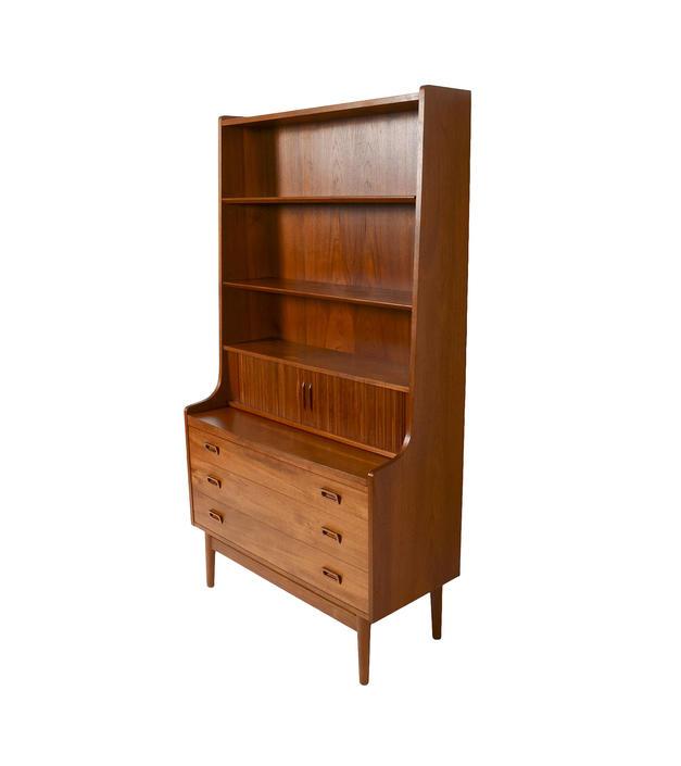 Teak Secretary Bookcase attributed Borge Mogensen Danish Modern Standing Desk by HearthsideHome
