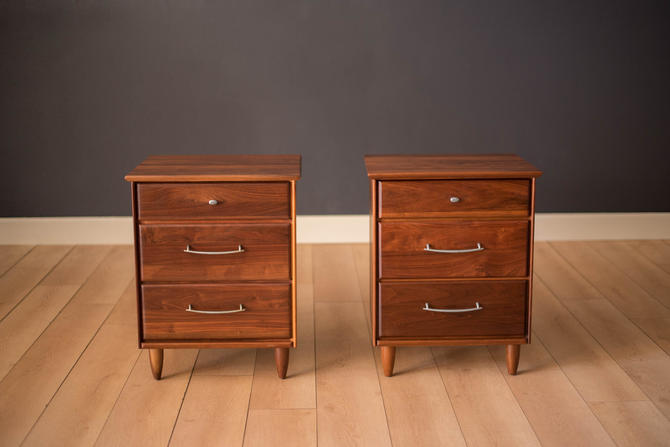 Vintage Pair of Solid Walnut Nightstands by Ace-Hi by MidcenturyMaddist