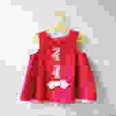 Vintage Pink Velvet Toddler Dress, Size 3T-4T Toddler Dress, Spring Dress, Pink Flower Dress with Bow by LittleDogVintage