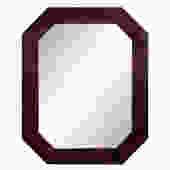 F. Digennaro Studio Made Lacquered Mirror with Graphic Design 1981 - SOLD