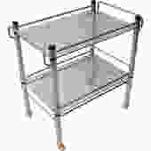 1970s Glass and Chrome Bar – Serving Cart