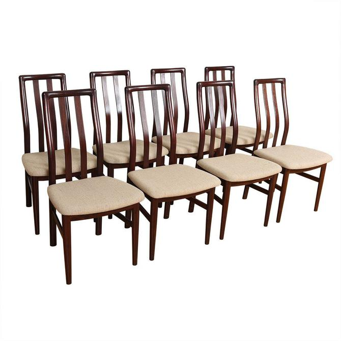 SET OF EIGHT MID CENT MODERN DANISH SKOVBY MOBELFABRIK ROSEWOOD DINING CHAIRS CA.1960's/ DINING TABLE AVAILABLE