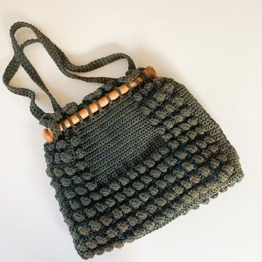 Vintage 1970s Macrome Shoulder Bag by MsTips