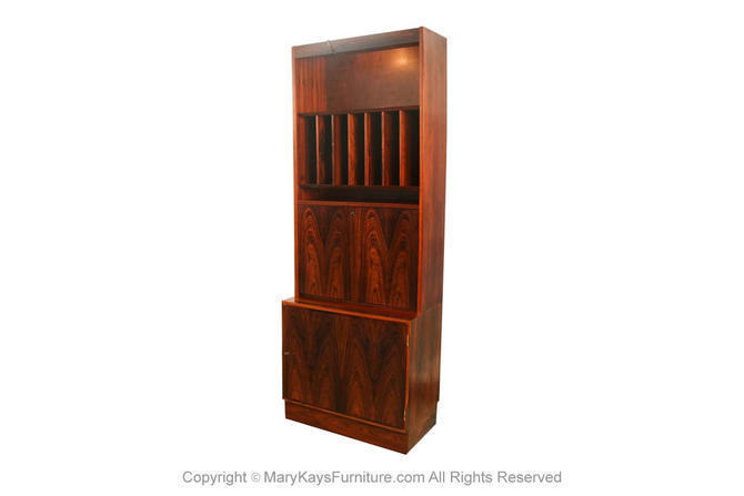 Danish Poul Hundevad Mid Century Rosewood Cabinet Hutch by Marykaysfurniture