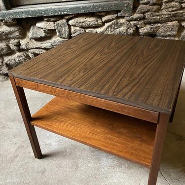 Mid century end table mid century modern side table Dunbar lamp table by VintaDelphia