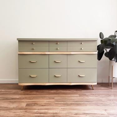 Sage Green MCM Dresser by madenewdesignct