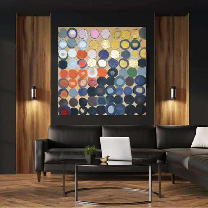 "CUSTOM ART for Elle EM 36""x36"" Canvas Painting Minimal Wall Art, Modern Home Decor, Abstract Minimalist Modern Original Contemporary Artwork by ArtbyDinaD"
