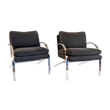 Paul Tuttle Chrome Arco Chairs - A Pair by MarquisModern