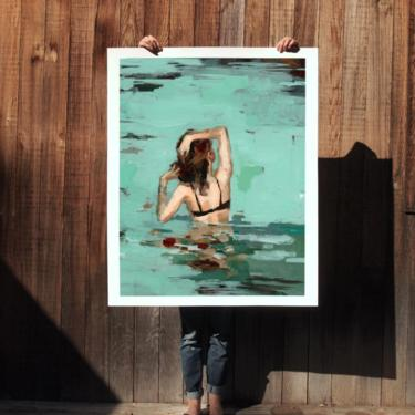 Favorite Place . extra large artwork giclee art print by ClareElsaesser