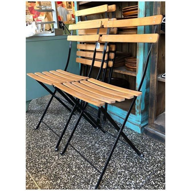 Folding bistro chairs