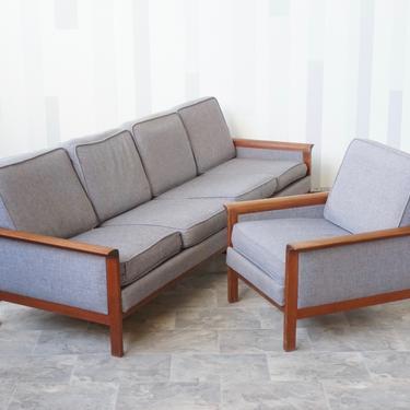 Hans Olsen style Mid Century Danish Teak sofa set