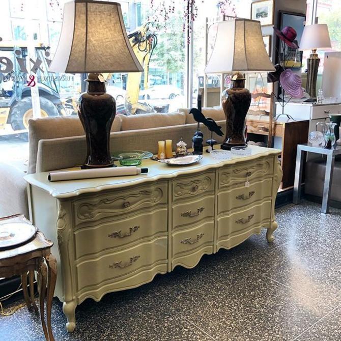 Sage Green French Provincial Dresser