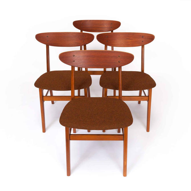 Vintage Danish Modern Set of Farstrup Mobler Teak & Beech Dining Chairs by MCMSanFrancisco