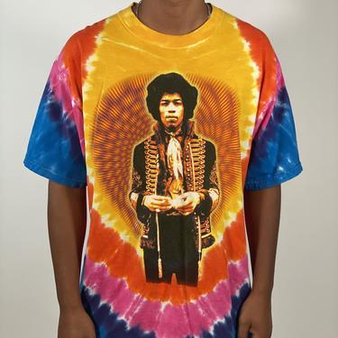 (XL) Tie-Dye Jimi Hendrix T-Shirt  - 081320