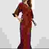 The Classic Maxi Dress | Merlot Waves