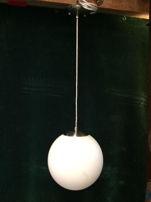 Contemporary Frosted Globe Pendant Light