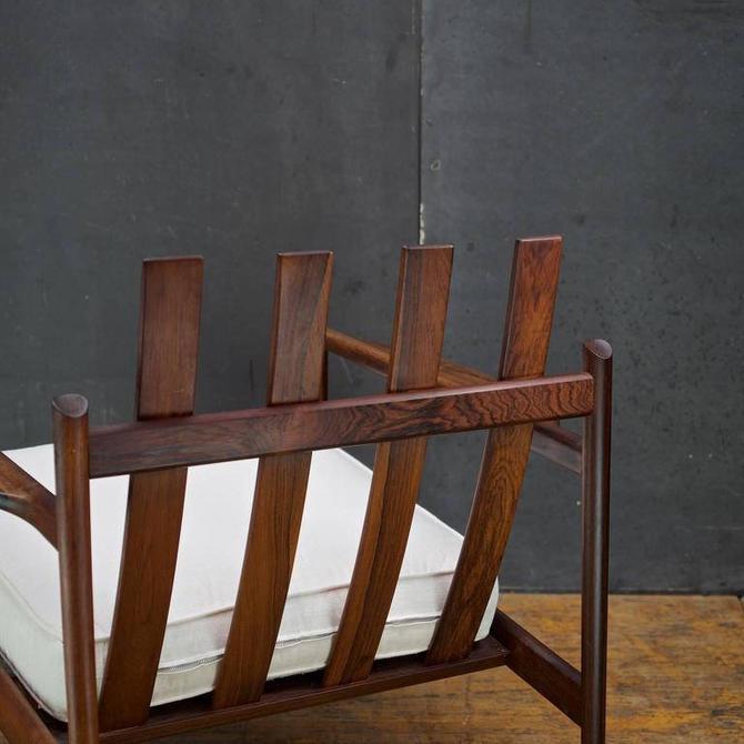 Kofod-Larsen Selig Brazilian Rosewood Sculptural Danish Lounge Armchair Easy Chair Vintage Mid-Century Scandinavian Modern by BrainWashington