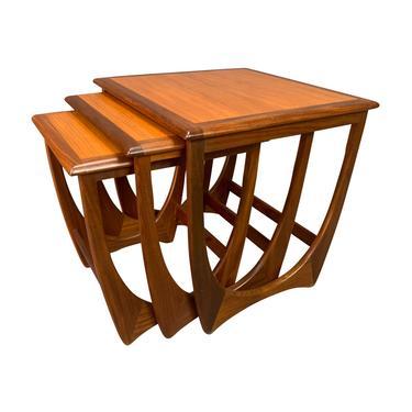 "Vintage British Mid Century Modern Teak ""Astro"" Nesting Tables by G Plan by AymerickModern"