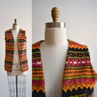 1960s Velvet Boho Hippie Vest by milkandice