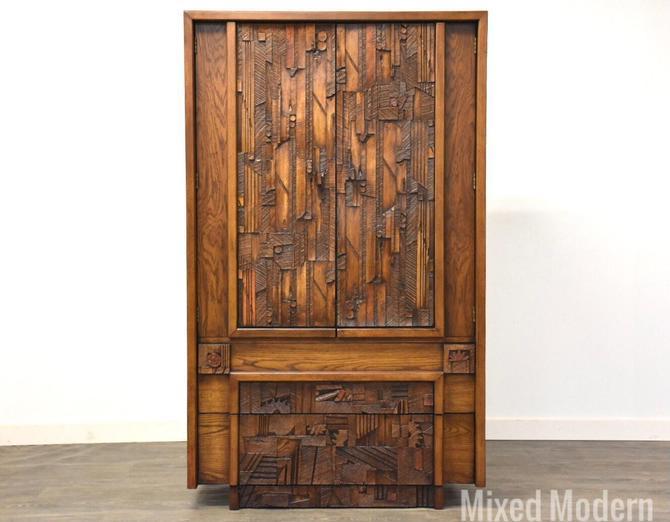 """Lane """"Pueblo"""" Brutalist Armoire Dresser by mixedmodern1"""