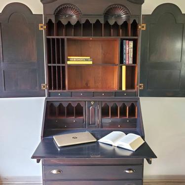 Regal Secretary Desk Hutch from Wright Table Co. Drop Leaf Desk with Bookshelves. Victorian Writer's Desk. Slant Front Secretary Desk. by LuebeckCreations
