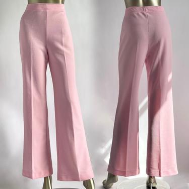 Soft Pink High Waist Pants 1970's Vintage Talbots by BeggarsBanquet