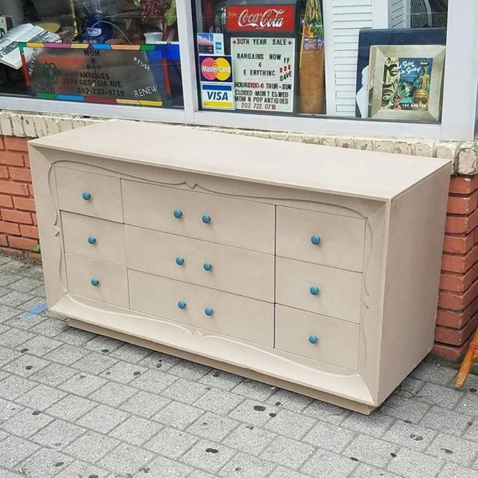 SOLD. Decorated Dresser, Solid Wood