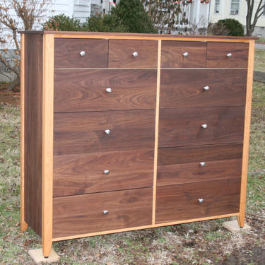"""X12520A *Hardwood 12 Drawer Dresser, Inset Drawers,  Flat Panels, 60"""" wide x 20"""" deep x 55"""" tall - natural color by SolidCherryHeirlooms"""