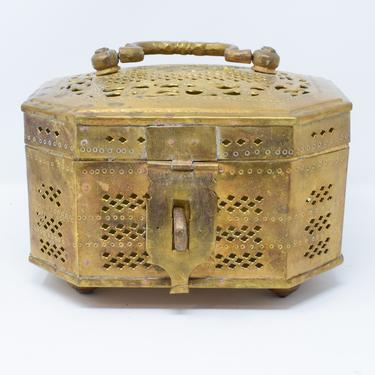 Large Brass Vintage Cricket Box by CapitolVintageCharm