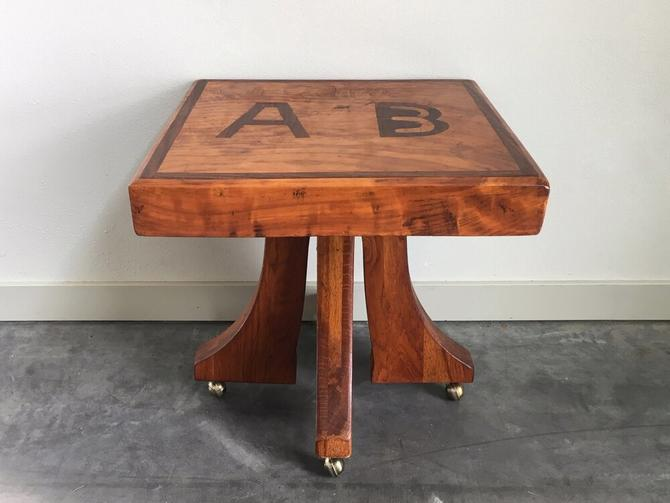 vintage handmade A B accent table.
