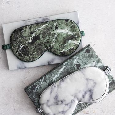 Mineral Pattern Silk Eye Mask