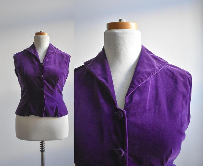 1960s Purple Velour Top by milkandice