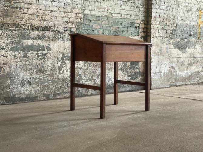 Turn-of-the-Century Antique Slant Top Writing Desk by NorthGroveAntiques