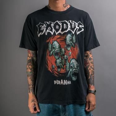 Vintage 90's Exodus Piranha T-Shirt by MillsAveVintage