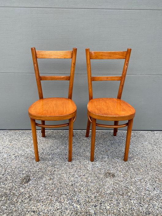 Set of 2 Vintage Thonet Bentwood Chairs by DesertCactusVintage