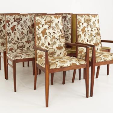 Dilingham Esprit Mid Century Walnut Dining Chairs - Set of 8 - mcm by ModernHill