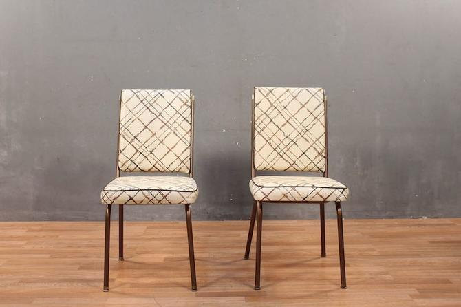 1970s Plaid Vinyl Side Chair – ONLINE ONLY