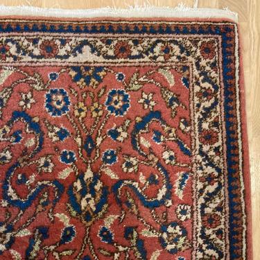 Vintage Rug 2' 1 x 3' 7 Maroon Bohemian Rug by JessiesOrientalRugs