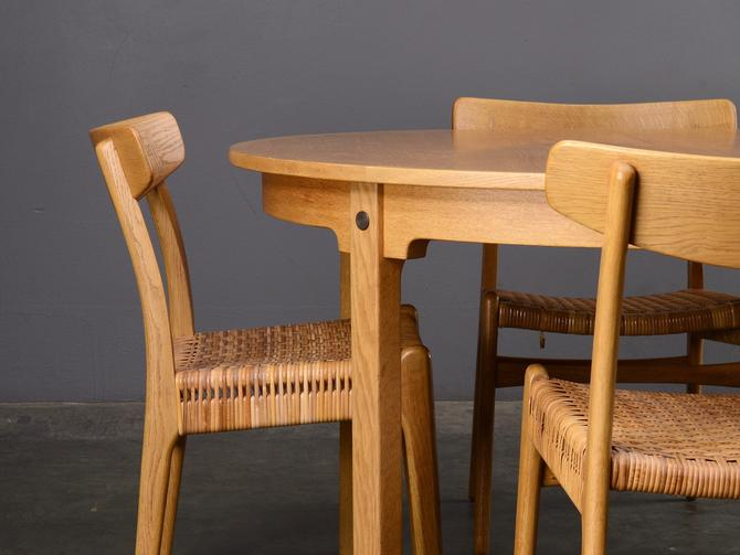 Mid-Century Dining Set Hans Wegner CH23 Chairs and Table Danish Modern by MadsenModern