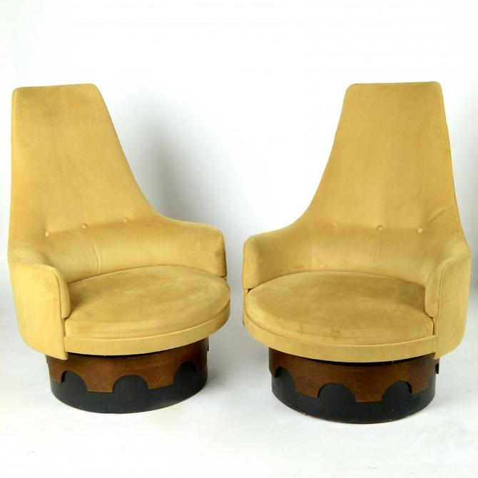 Pair of Adrian Pearsall Swivel Chairs