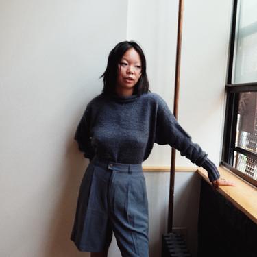 Blue Silk Shorts
