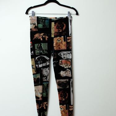 Animal Print Velvet Leggings | Moschino by FemaleHysteria
