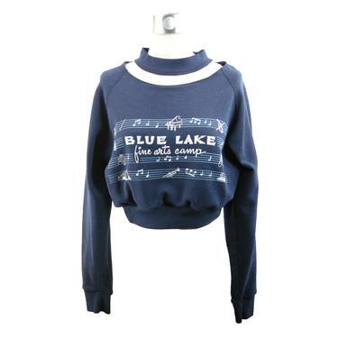 Fine Arts Necklace Crop Sweatshirt