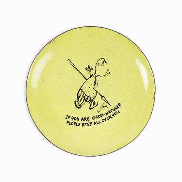 """William Steig Enameled Plate """"If You Are Good-Natured People Step All Over You"""" Copper Bernad by VintageInquisitor"""