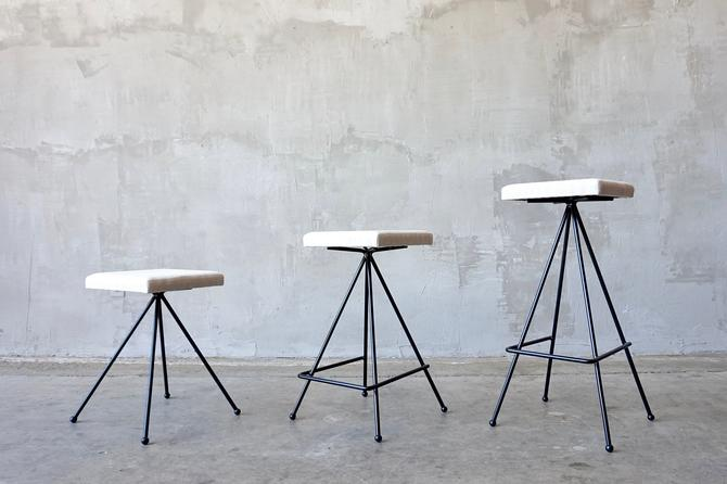 Made to Order Iron Modernist Stools. by FandFVintage